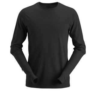 Snickers Workwear AllroundWork Wool langarm Woll-T-Shirt